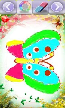 孩子的可爱蝴蝶