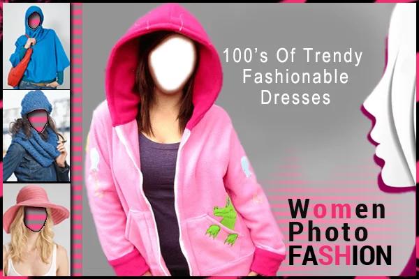 工具,贴纸,文字pic,与*的时尚女人的衣服帧分享您在不同的支装与朋友