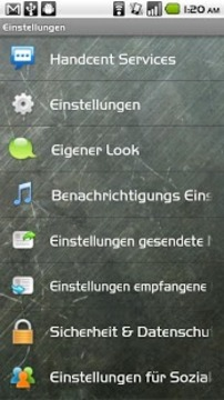 Handcent SMS Germany Language