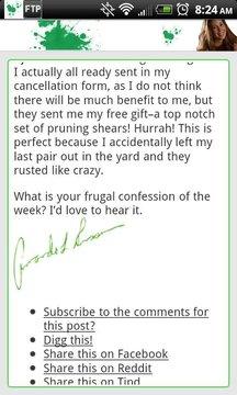 节俭的自白 Frugal Confessions