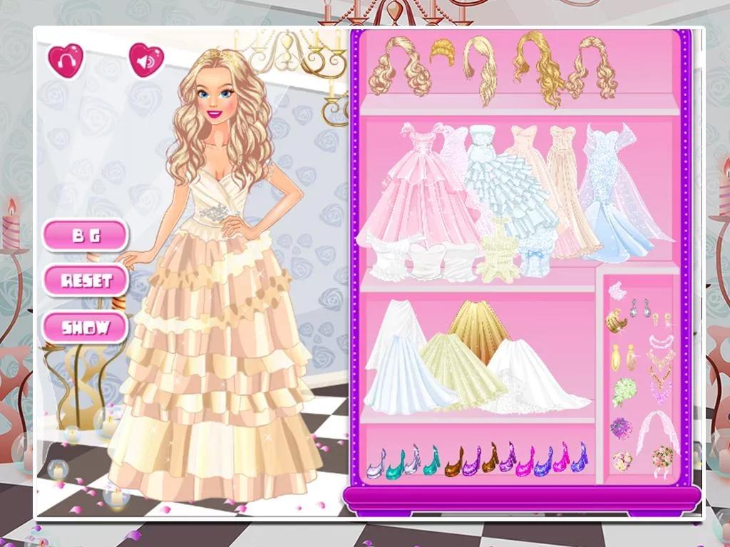 帮助这个可爱的公主及王子找到完美订婚服装,选择一身迷人的粉红色或