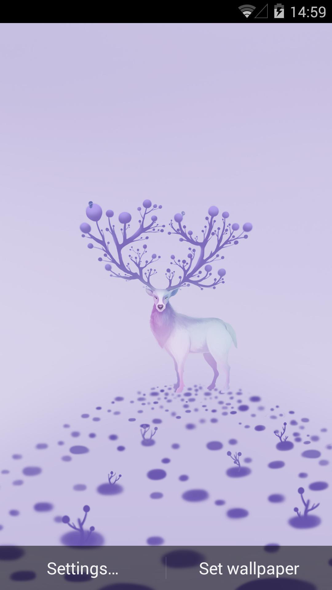 色彩手绘麋鹿高清图