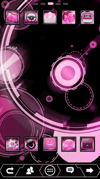 Pink ICS GO Launcher