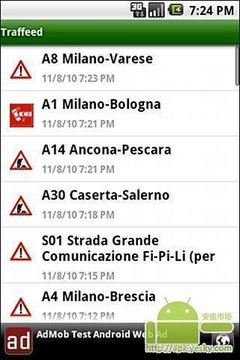 意大利主要公路交通信息