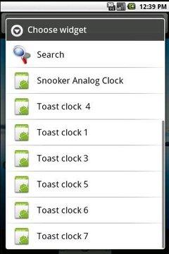 snooker clock widget