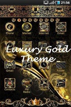 Luxury Gold Clock widget