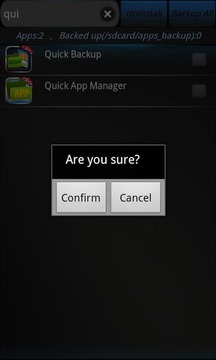 Quick Backup