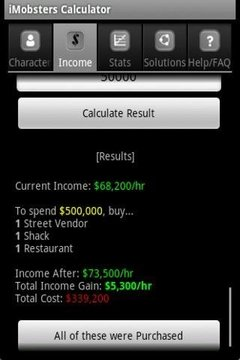 iMobsters Calculator