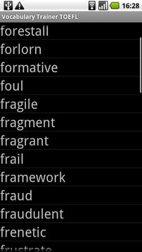 Vocabulary Trainer TOEFL