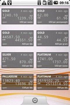 贵金属价格构件