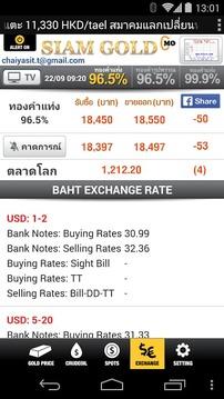 Thai Siam Gold ราคาทอง
