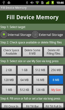 Fill Device Memory Lite