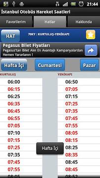 İstanbul Otobüs Saatleri