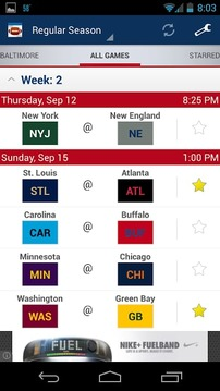 Football Schedule 2013