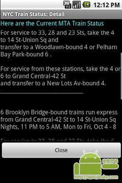 纽约列车状态