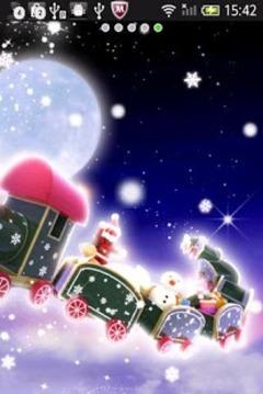 圣诞火车动态壁纸
