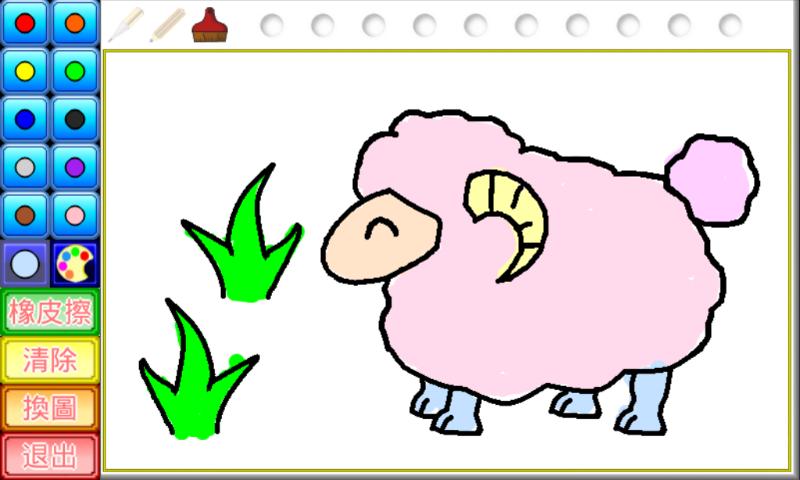 一,动物著色:提供多种动物图画,       给小朋友自由著色.