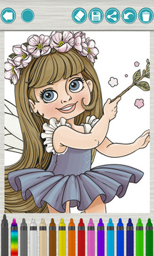 33mb 让孩子你画我猜为经典童话故事神话仙女画图,如白雪公主,长发图片