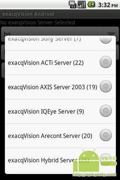 用于Andrord TM的exacqVis...