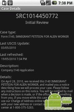移民局的案件处理情况跟踪