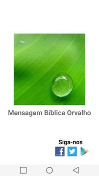 Mensagem Bíblica Orvalho