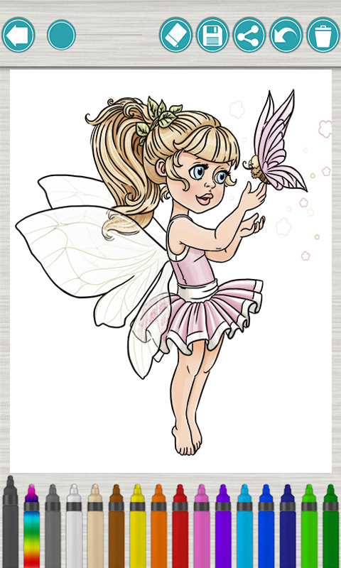 儿童画画涂色:童话公主下载