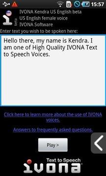 IVONA Kendra US English(beta版)