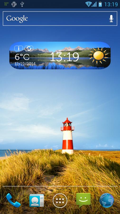 大自然的 时钟和天气小工具
