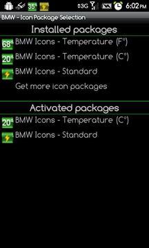 BMW Icons - Temperature (C°)