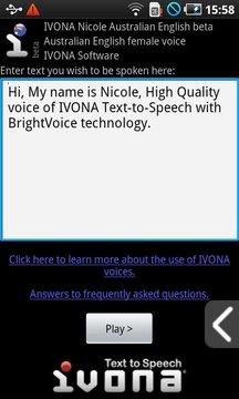 IVONA Nicole Australian English(beta版)