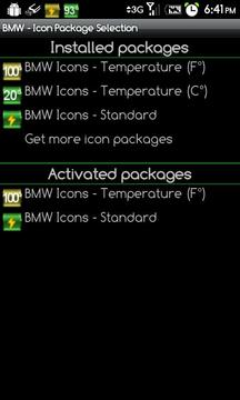BMW Icons - Temperature (F°)