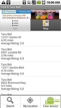 快餐店Taco Bell 搜索器