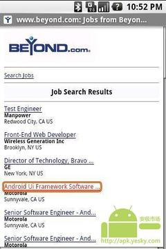 在Beyond.com搜索职位