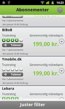 Find best mobile subscription