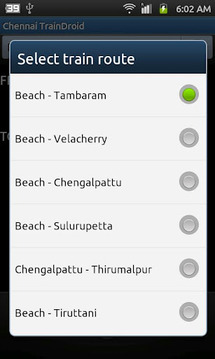 Chennai TrainDroid
