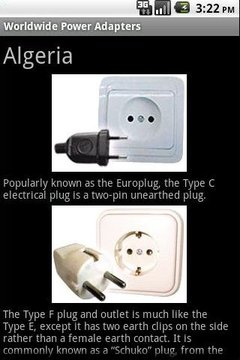 世界电源插座和适配器