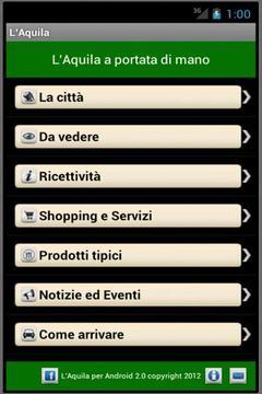 L'Aquila per Android