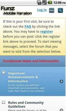 Funz Gaming Network Mobile App