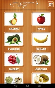 Baby learning Fruits (Card)