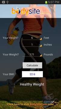 BodySite.com BMI Calculator
