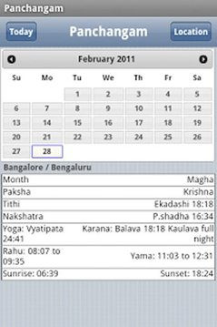 World Panchangam
