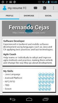 my resume FC