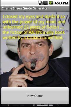 Charlie Sheen Random Quotes