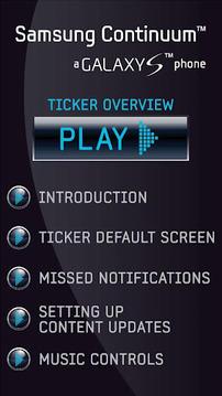 Samsung Continuum Ticker