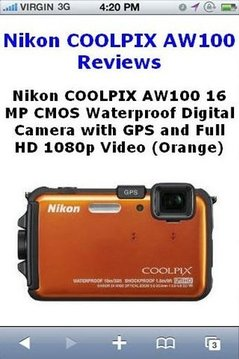 COOLPIX AW100 Camera Reviews