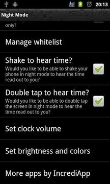 Night Mode Trial (Night Clock)