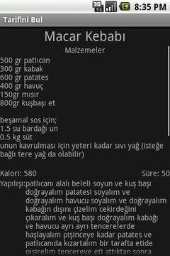 Tarifini Bul