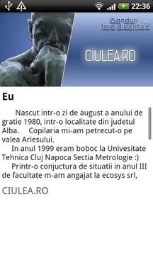 Ciulea's Blog