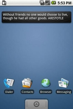 Aristotle Quotes Widget 4x1