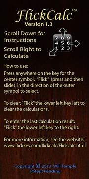 FlickCalc™ Wear Free